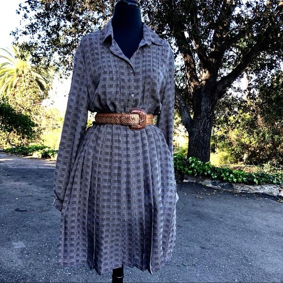 Anthropologie Dresses & Skirts - Anthropologie Isabella Sinclair Blue Plaid Dress